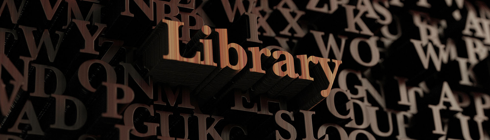 Raised wooden letters that spell the word library - LRMS - g4 library automation software
