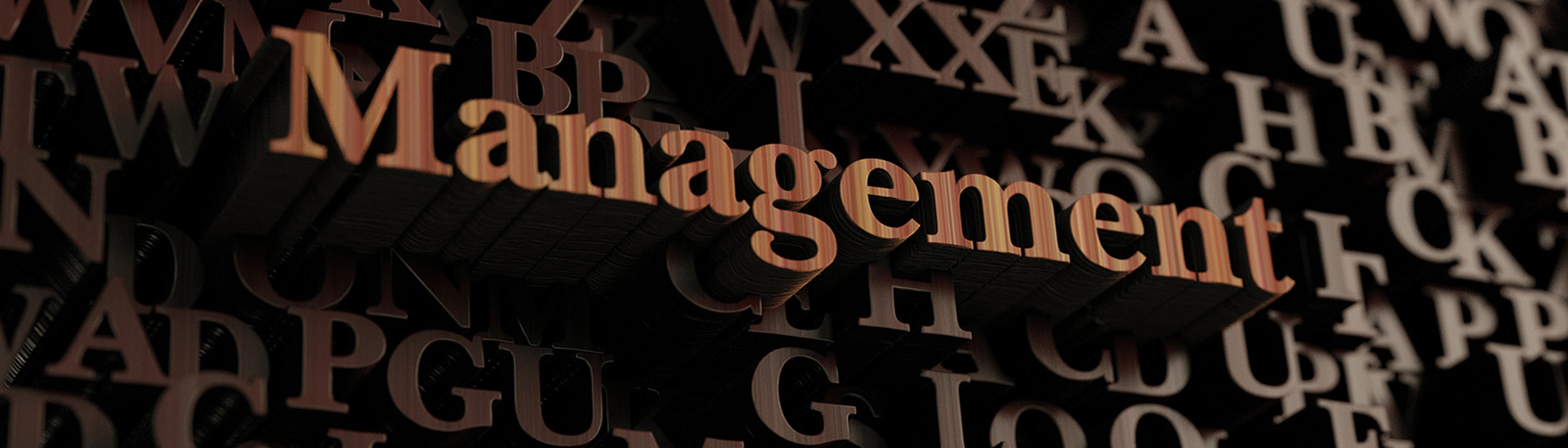 Raised wooden letters that spell the word management - LRMS - g4 library automation software